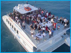 Charter on the party Cat Key West